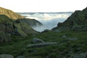 Nubes en el valle